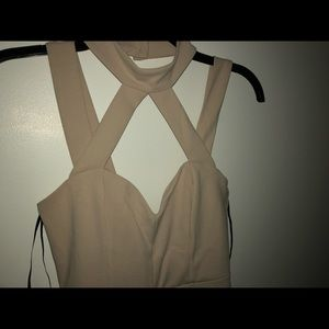 Classy Beige Jumpsuit From Forever 21 size S